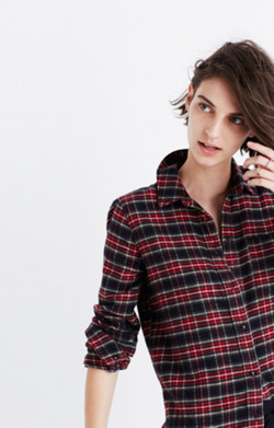 Flannel Slim Ex-Boyfriend Shirt in Chilton Plaid