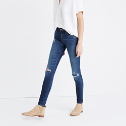 """Taller 9"""" High-Rise Skinny Jeans: Ripped and Patched Edition"""