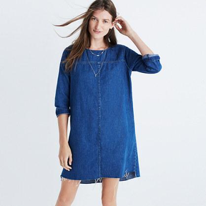 Denim Step-Hem Dress