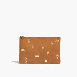 The Leather Pouch Clutch: Madewell Icons Edition