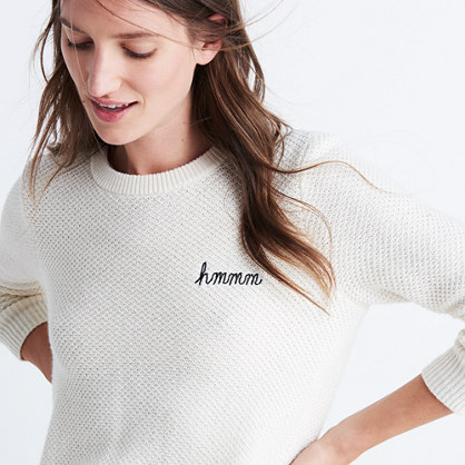 Embroidered Backroad Button-Back Sweater