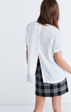 Maison Button-Back Top