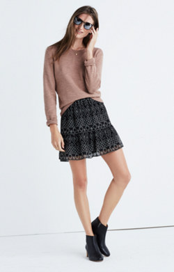 Caravan Print Mini Skirt