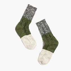 Marled Colorblock Trouser Socks