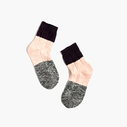 Marled Colorblock Trouser Socks