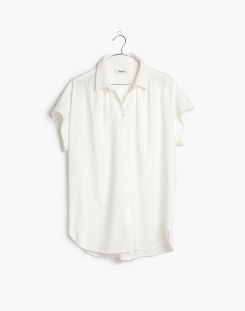 Central Shirt in Pure White in pure white image 4