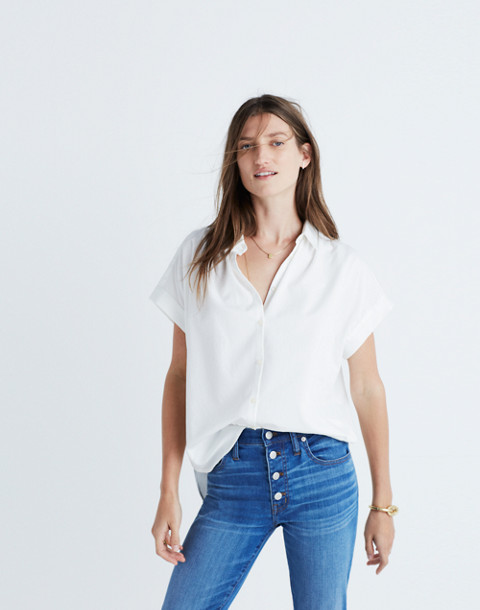 Central Shirt in Pure White in pure white image 1