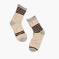 Striped Diamond Trouser Socks