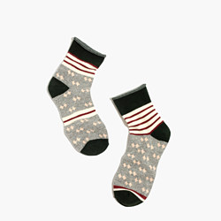 Striped Diamond Ankle Socks