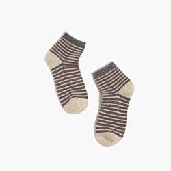Flecked Stripe Ankle Socks