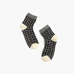 Houndstooth Ankle Socks