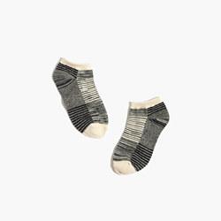 Space-Dyed Stripe Anklet Socks