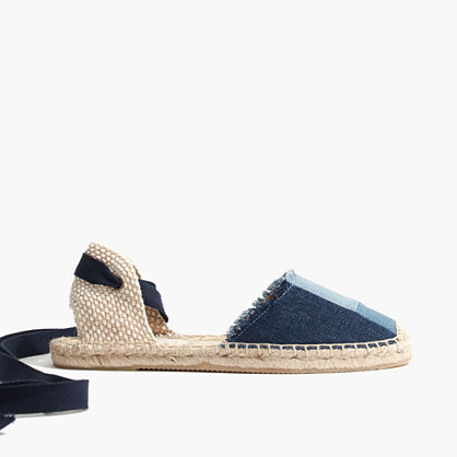 Soludos® Espadrille Sandals in Patchwork Denim