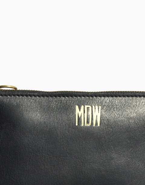 The Simple Crossbody Bag in true black image 4
