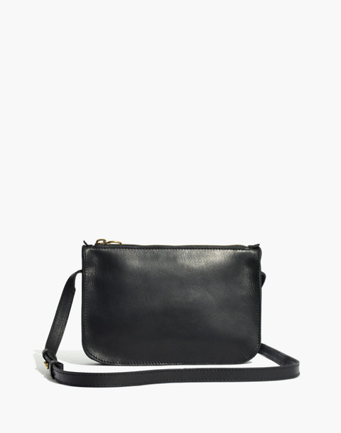 The Simple Crossbody Bag in true black image 1