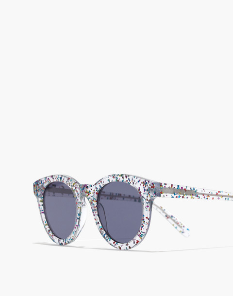 Halliday Sunglasses in multi color glitter image 2