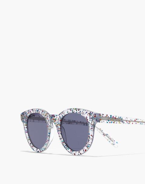 Halliday Sunglasses in multi color glitter image 2