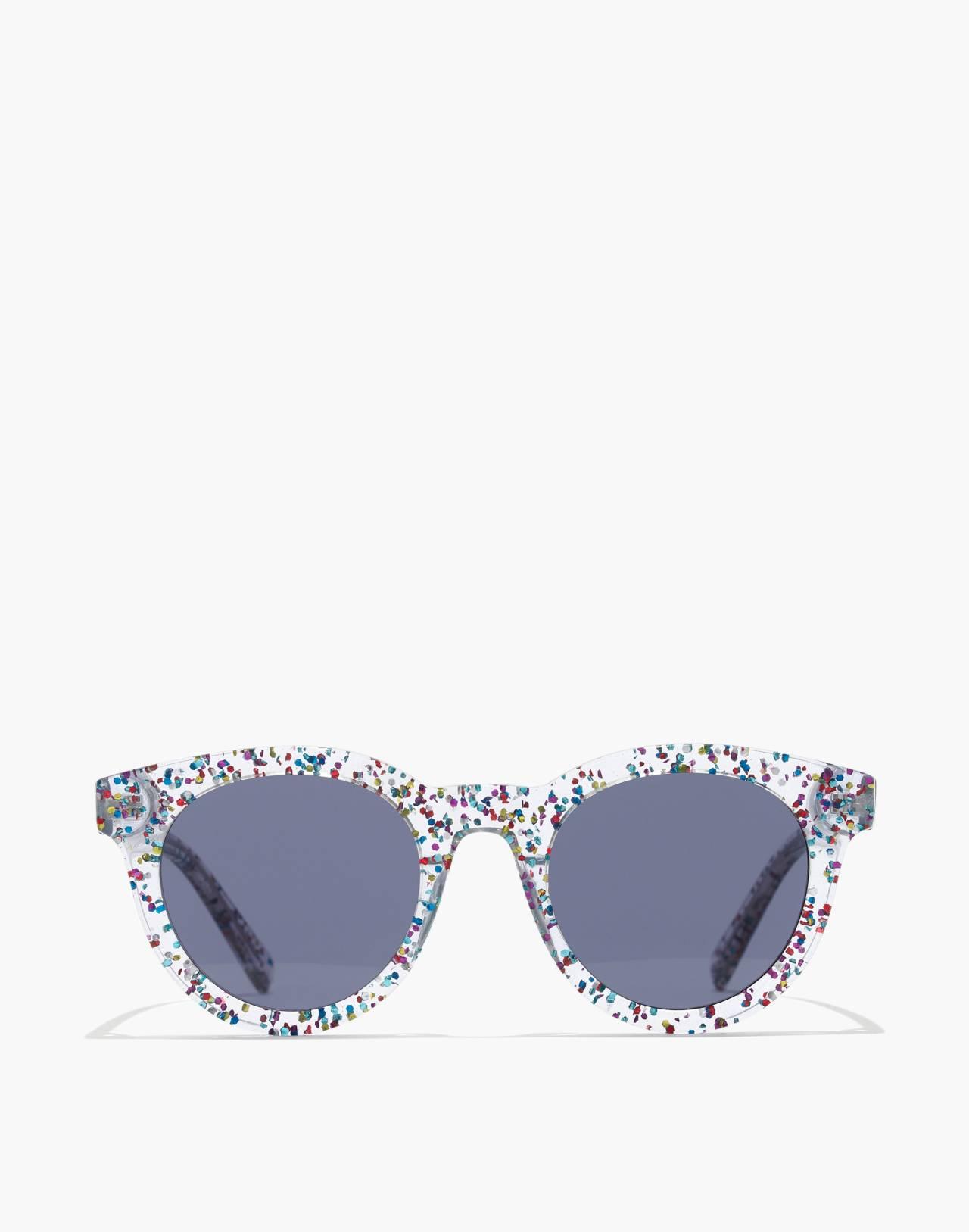 Halliday Sunglasses in multi color glitter image 1
