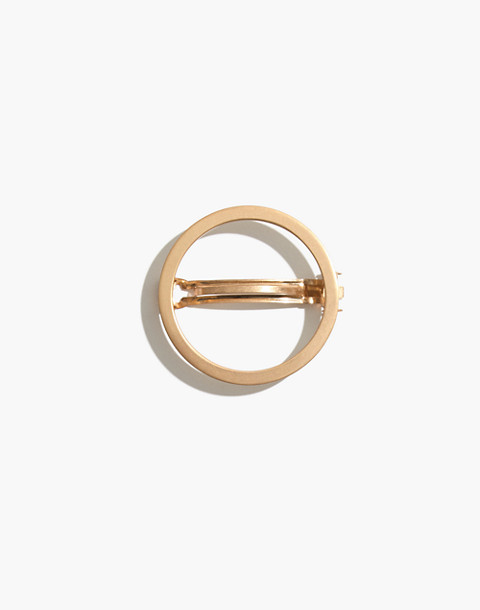 Chunky Circle Hair Clip in vintage gold image 1