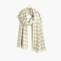 Brushed Buffalo Check Scarf