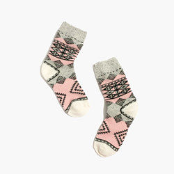 Diamond Carpet Trouser Socks