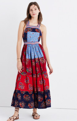 Ulla Johnson™ Lune Patchwork Apron Dress