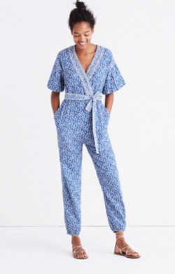 Ulla Johnson™ Floral Tie-Waist Jumpsuit