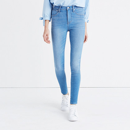 "Tall 10"" High-Rise Skinny Jeans in Hank Wash"
