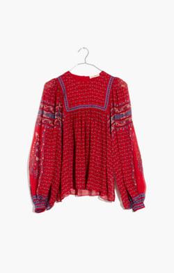 Ulla Johnson™ Silk Minou Peasant Top