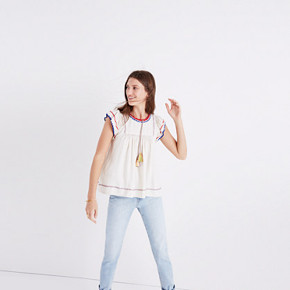 Ulla Johnson™ Silk Katya Peasant Top