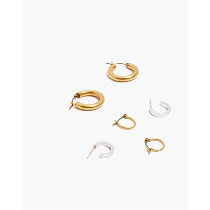Three-Pack Hoop Earring Set