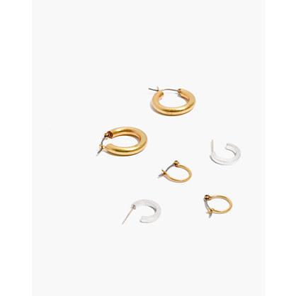 Three-Pack Hoop Earring Set