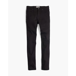 "Taller 9"" High-Rise Skinny Jeans in ISKO Stay Black™"