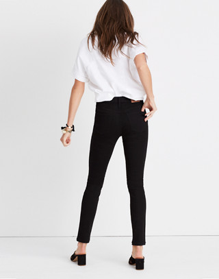 "Tall 9"" High-Rise Skinny Jeans in ISKO Stay Black™ in black frost image 3"