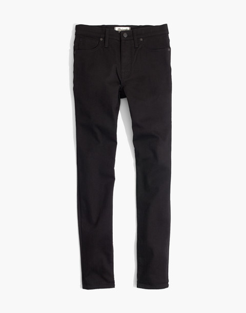 "Petite 9"" High-Rise Skinny Jeans in ISKO Stay Black™ in black frost image 4"