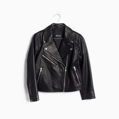 Shrunken Leather Motorcycle Jacket
