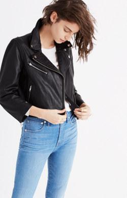 Shrunken Leather Motorcycle Jacket