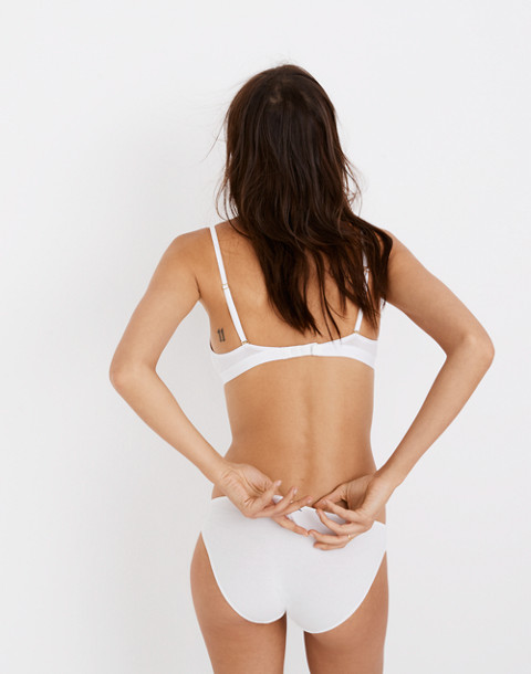 Cotton-Modal® Eliza Cutout Bralette in optic white image 2