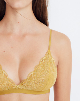 Lace Liana Triangle Bralette in bronzed amber image 2