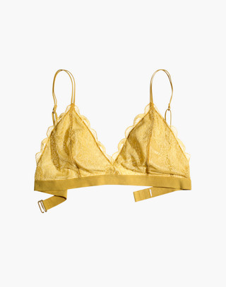 Lace Liana Triangle Bralette in bronzed amber image 4