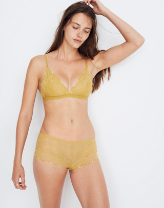 Lace Liana Triangle Bralette in bronzed amber image 1