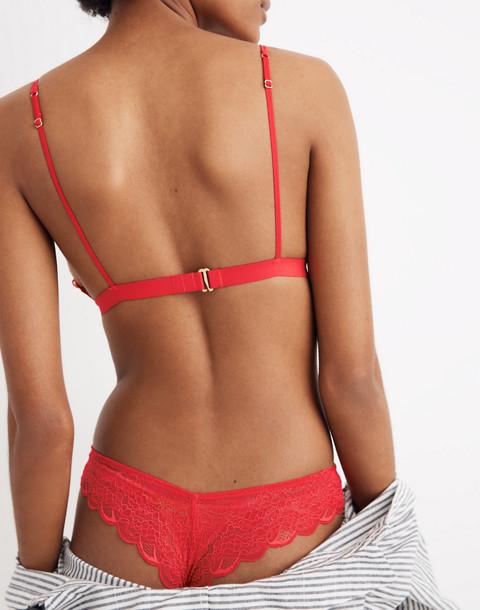 Lace Liana Triangle Bralette in americana red image 3