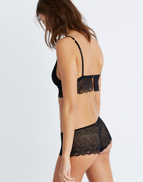 Lace Liana Longline Bralette in true black image 2