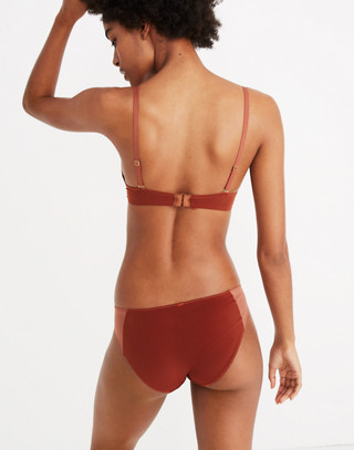 Mesh-Trimmed Bikini in maple syrup image 3