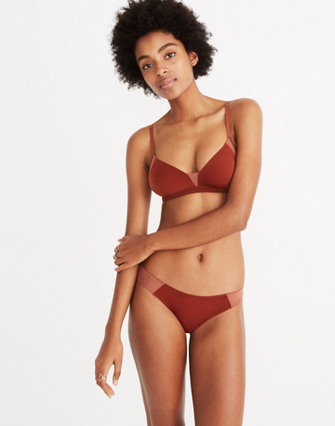 Mesh-Trimmed Bikini in maple syrup image 1