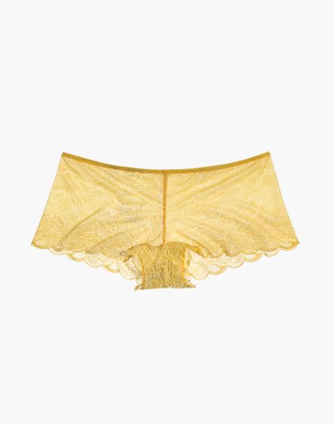 Lace Boyshort in bronzed amber image 4