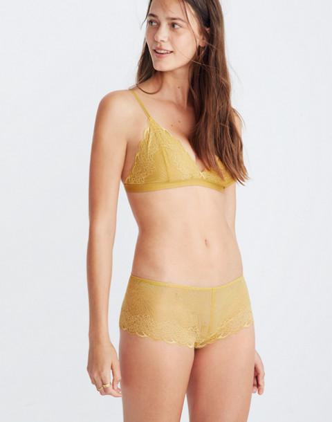 Lace Boyshort in bronzed amber image 1