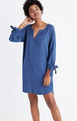Du Jour Tie-Sleeve Tunic Dress