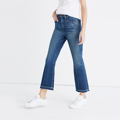 Tall Retro Crop Bootcut Jeans in Callahan Wash