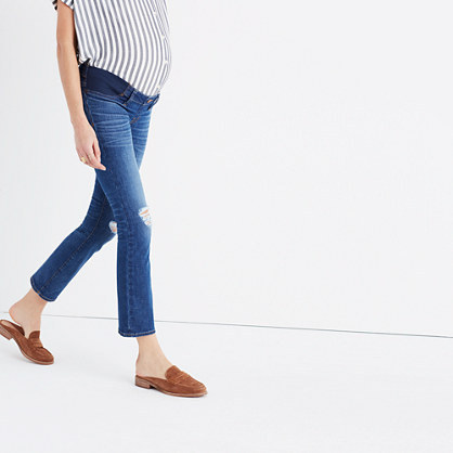 Maternity Demi-Boot Jeans in Robin Wash